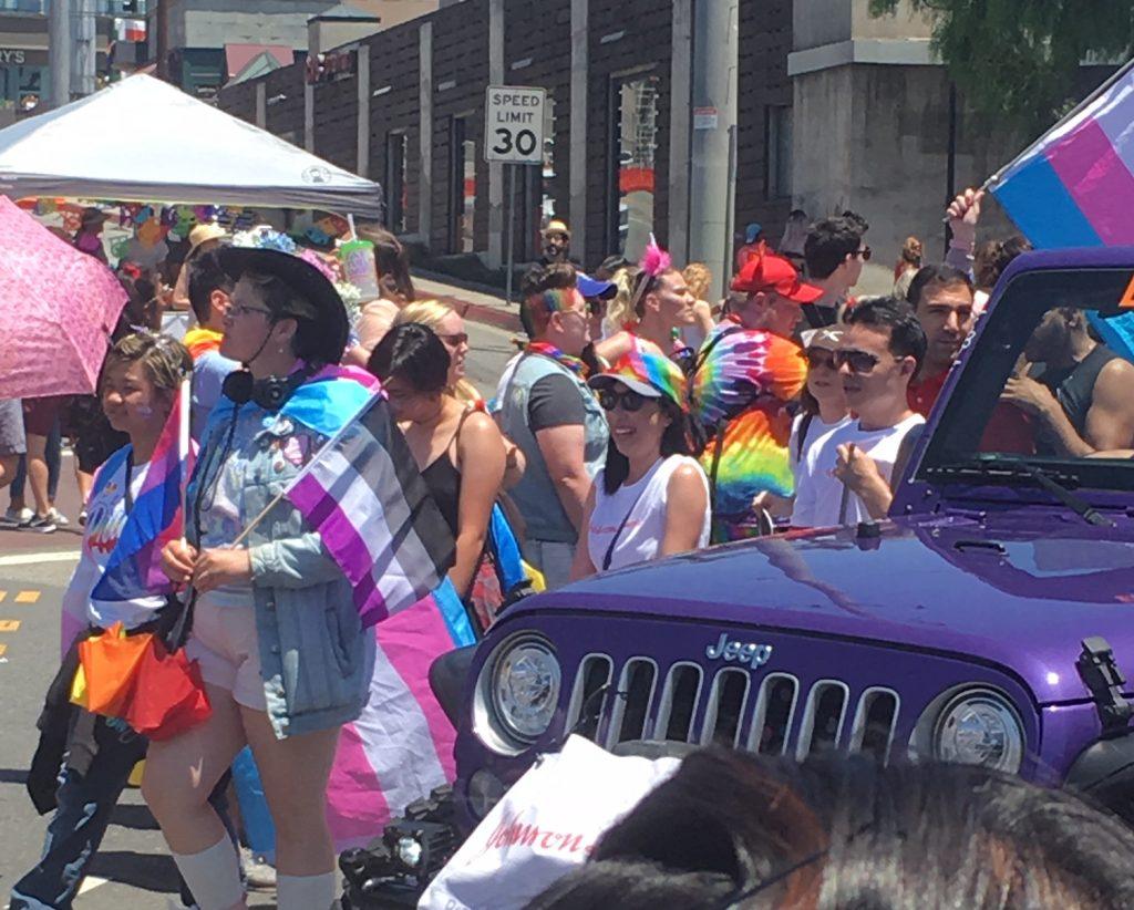 La Pride Parade participants