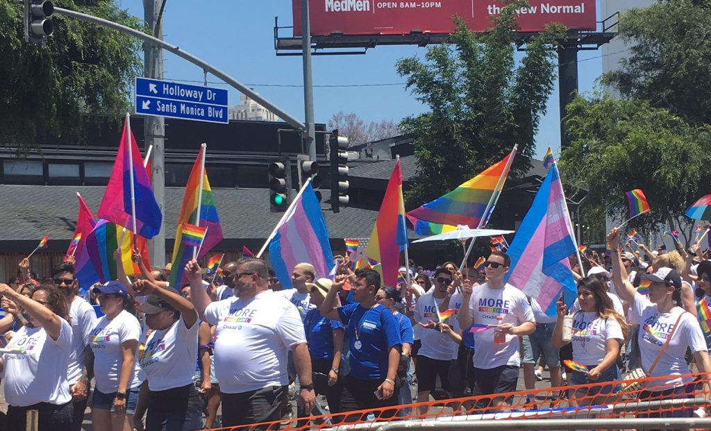 2019 LA Pride Parade marchers