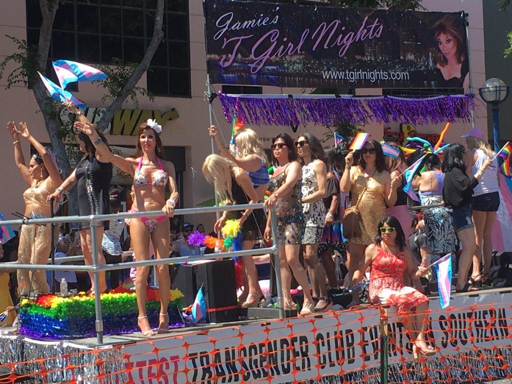 TGirlNights float Pride parade